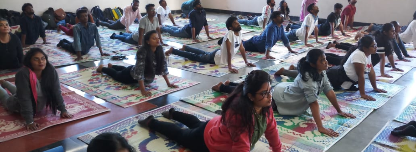 Yoga session conducted under Fit India Movement
